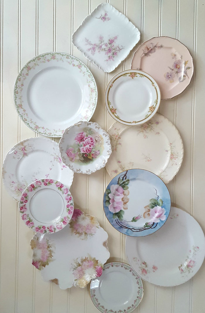 Collecting beautiful examples of rose china patterns is easier than you may think. Look for plates in similar pink tones and patterns, and they'll coordinate perfectly with each other.