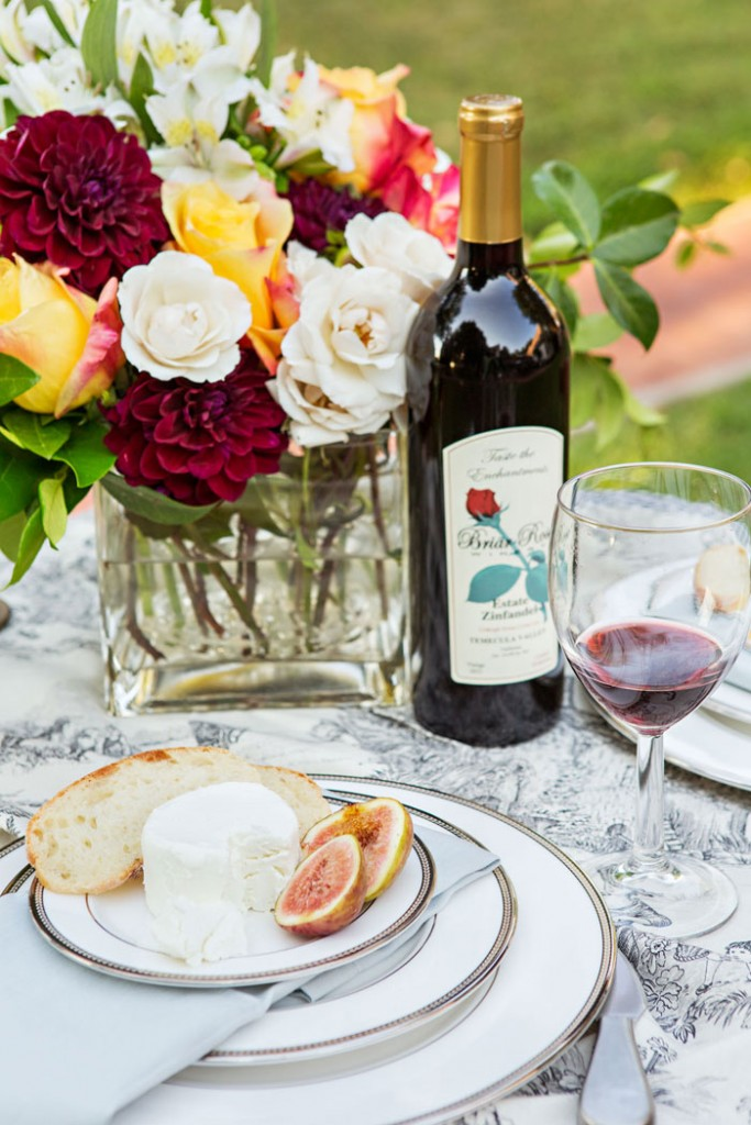 Pair your handcrafted cheeseboard with other delicacies like figs or Champagne grapes and a glass of good wine. #romantichomes.