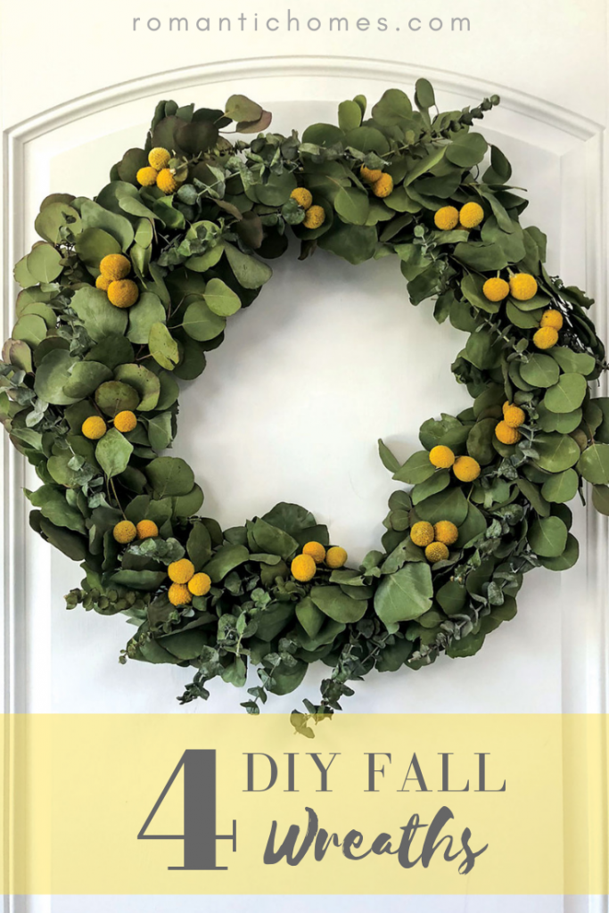 Make a DIY wreath to complete your entryway this fall.